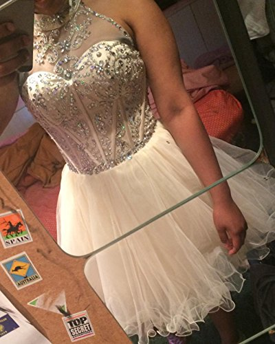 9f36eb9de76 Home Homecoming Dresses OYISHA Women s Short Beading Halter Homecoming Prom  Dresses Backless Lilac 16.   