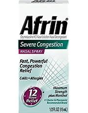 Afrin Severe Congestion Maximin Strength Nasal Spray Plus Menthol - .5 oz