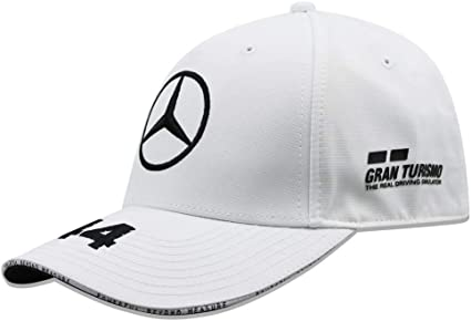 Mercedes AMG Petronas Gorra Motorsport Team F1 Racing Driver Lewis Hamilton Flatbrim Blanco