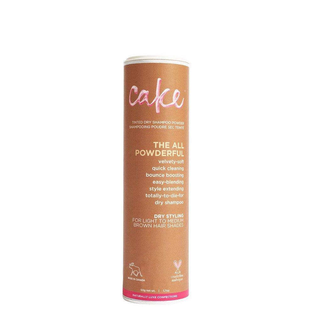 Cake Beauty Satin Sugar Tinted Dry Shampoo Powder for Light to Medium Brown Hair Shades C030
