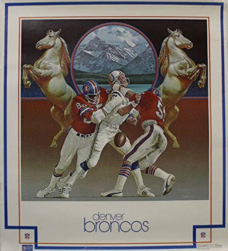 (Denver Broncos Vintage 1983 NFL Properties Poster vs Colts)