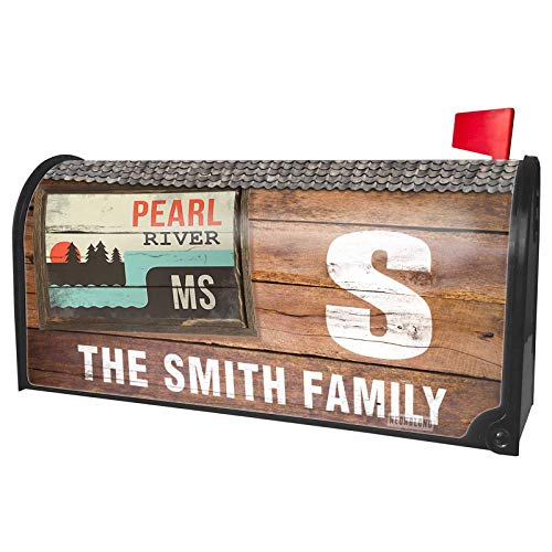 NEONBLOND Custom Mailbox Cover USA Rivers Pearl River - Mississippi