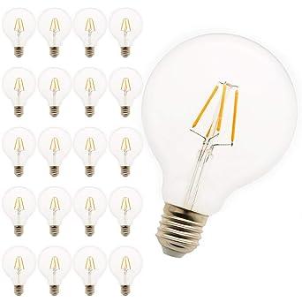 G95 LED Pera, E27, regulable blanco cálido 4 W, equivalentes a 30 W