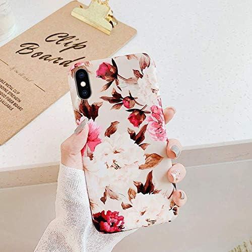 Uposao Kompatibel mit iPhone XS/iPhone X Hülle Crystal Case Schutzhülle mit Muster Motiv Blumen Blätter Weiche TPU Silikon Slim Stoßfest Ultra Dünn Handyhülle Backcover Tasche,Grün Blätter
