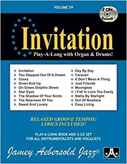 Vol 59 invitation play a long with organ drums book cd set 59 invitation play a long with organ drums book cd set jamey aebersold 0417633005928 amazon books stopboris Image collections