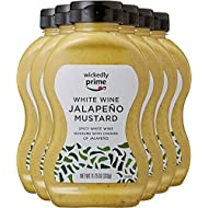 Wickedly Prime Mustard, White Wine Jalapeno, 11.75 Ounce (Pack of 6)
