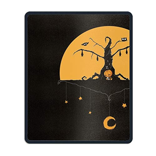 New Mouse Pad Holiday Halloween Minimalist Moon Tree Customized Rectangle Non-Slip Rubber Mousepad Gaming Mouse Pad ()
