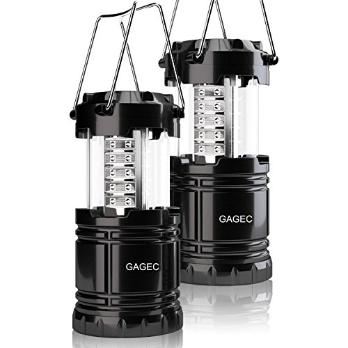 GAGEC 2 Unit Mini Portable Collapsible Outdoor LED Camping Lantern Equipment for Emergency, Tent Light, Backpacking by GAGEC