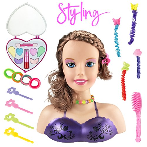 Liberty Imports Princess Styling Head Doll Playset with Beauty and Fashion Accessories For Girls (Style Head Kit)