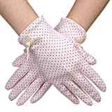 "Sunshine Lady Gloves | Prime Grade Cotton Women Long Sunscreen Driving Cute Gloves for Ultimate UV Protection Excellent for Summer | Superb Fit on Any Hands with 8.7"" Length 