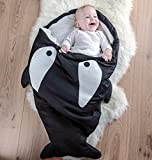 BADASS SHARKS Super Comfy Cartoon Shark Sleeping Bag Anti-kicking Newborn Sacks Swaddle Blanket Sleep Bag For Kids/baby (Black)