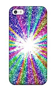 Iphone Cover Case - Pretty Rainbow Rays Protective Case Compatibel With Iphone 5/5s
