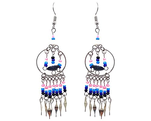 Amazon.com: Mia Jewel Shop - Pendientes colgantes hechos a ...