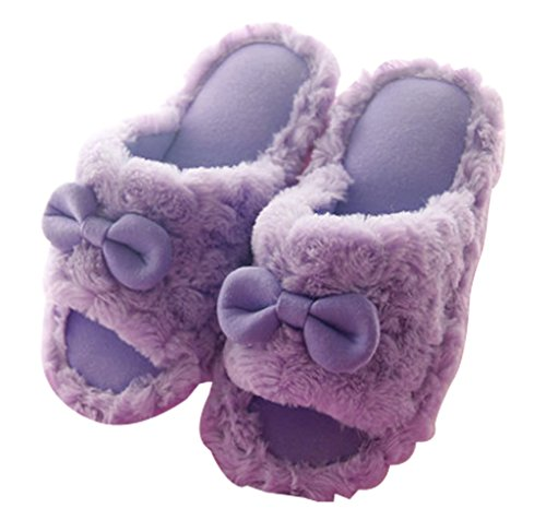Cattior Womens Furry Ladies Slippers House Indoor Slippers Purple vCHH7YZQVr