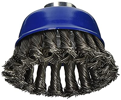 "Mercer 189090B Knot Cup Brush 2-3/4"" x 5/8""-11 or M14 x 2.0 for Angle Grinders"