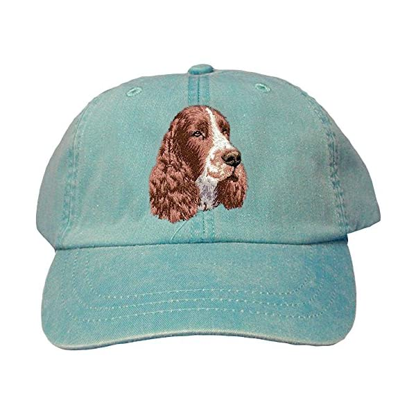 Cherrybrook Caribbean Blue Dog Breed Embroidered Adams Cotton Twill Caps (All Breeds) 1