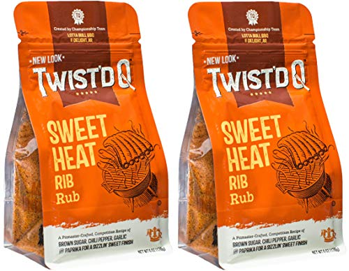 (American Royal World Series of Barbecue Sweet Heat Rib Rub Championship Recipe 6 ounce 2 Pack- Twistd Q (Packaging may vary))