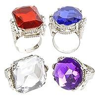 Jumbo surtido de anillos Jeweled (1 dz)