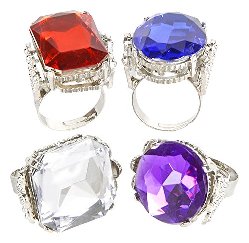 [Jumbo Jeweled Rings Assortment (1 dz)] (Costumes Jewelry Prices)