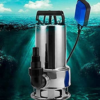 Image of Sump Pumps Submersible Water Pump Sump with Float Switch Portable Clean/Dirty (1.5HP, blue)