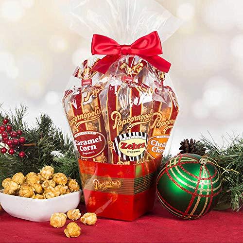 Popcornopolis Mini 5-cone Variety Popcorn Gift Basket, Gluten Free (1 Gift Basket)