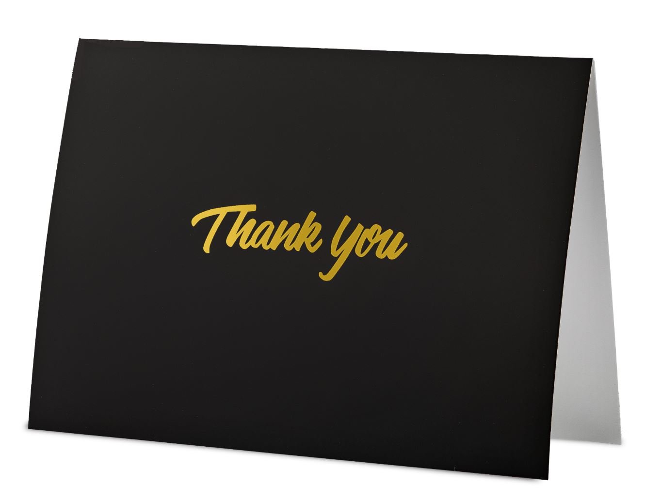 100 Thank You Cards with Envelopes - Thank You Notes, Black & Gold Foil - Blank Cards with Envelopes - For Business, Wedding, Graduation, Baby/Bridal Shower, Funeral, Professional Thank You Cards Bulk by FORTIVO (Image #3)