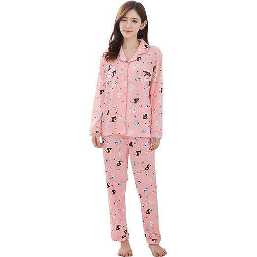 71d0d888f7a8 Long Sleeve Suit Warm Cartoon Large Cotton Girls Sleepwear Women s ...