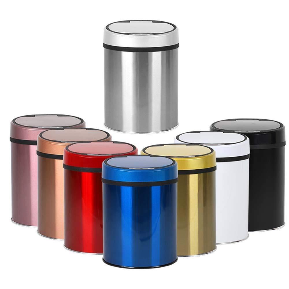 YXNN Smart Mülleimer Elektronische Induktion Home Küche Badezimmer Schlafzimmer Wohnzimmer USB-Aufladung (Farbe : Red, größe : 12L)