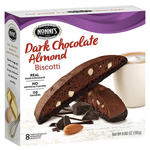 Espresso Bittersweet Chocolate - Nonni's Biscotti, Dark Chocolate, 8 Count, 6.88 Ounce