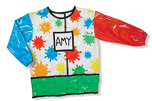 - Melissa & Doug Long-Sleeve Artist Smock - Easy to Clean, 4 Storage Pockets