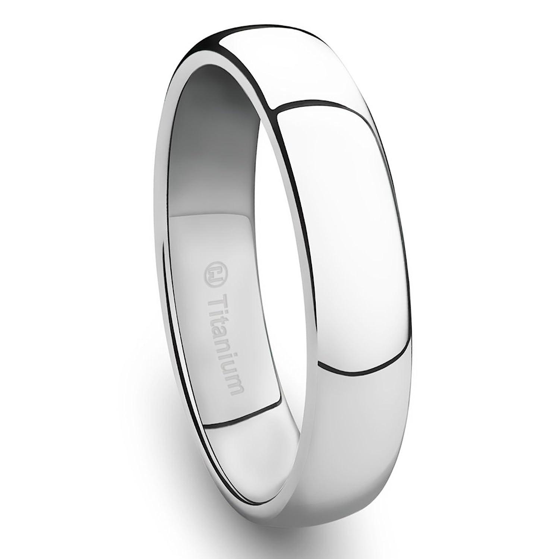 4mm titanium platinum plated ring classic wedding band with