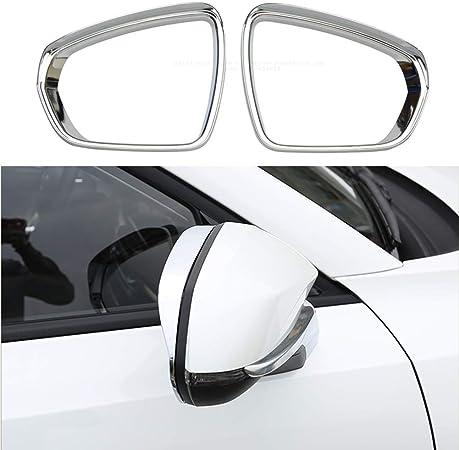 Yueng ABS Chrome Car Side Door Specchietto retrovisore sopracciglio Frame Trim Trim 2-Pack
