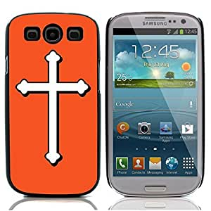 Graphic4You Cross Design Hard Case Cover for Samsung Galaxy S3 S III (Orange)