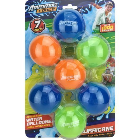Adventure Ball (7 Pack Adventure Force Hurricane Reusable Water Balls)