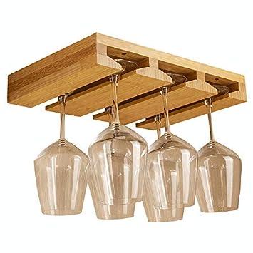 Extrem Komost Bambus Weinglas Regal, Brillenaufbewahrungshalter AM55