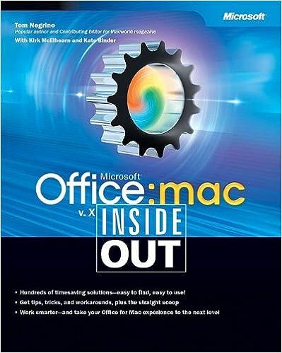 microsoft office v x for mac inside out tom negrino kirk elhearn