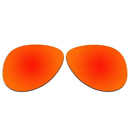 cf7d71b2caf ACOMPATIBLE Replacement Lenses for Oakley Elmont Medium 58mm Sunglasses  OO4119-xx58 (Fire Red -