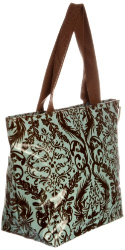 Re-uz Medium Oilcloth Tote Blue Lace - Bolso de tela para mujer azul - Light Blue/Brown