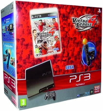 PlayStation 3 Consola 320 Gb y Virtua Tennis 4 y Starter Pack Move: Amazon.es: Videojuegos