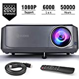 Video Projectors (Upgraded), GuDee Full HD Movie Projector for Home Theater, 6000 Lux Overhead Projector for Business PowerPoint Presentations, Compatible with Laptop, Smartphone, HDMI, USB