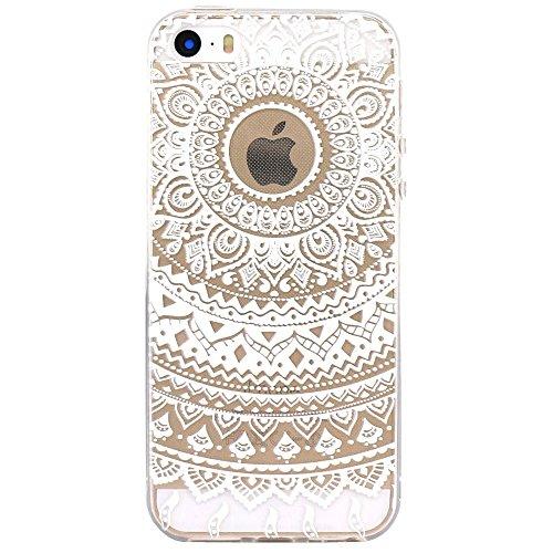 Vanki® Fundas iPhone 5S 5 SE, Suave TPU Funda Parachoques Funda Absorción de Impactos y Anti-Arañazos Case Cover Carcasa Para iPhone 5S 5 SE 15
