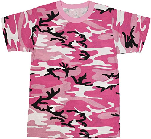 Army Universe Pink Camouflage Short Sleeve T-Shirt Pin - Size Medium (37