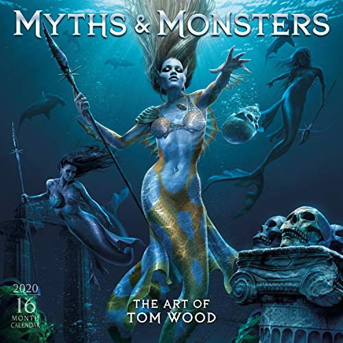 Myths & Monsters: The Art of Tom Wood 2020 Wall Calendar: by Sellers Publishing -
