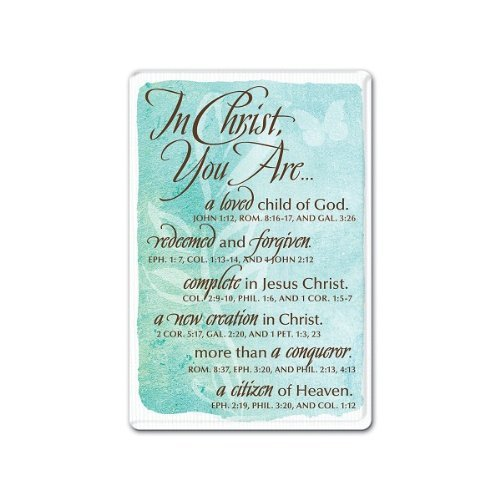 LCP Gifts In Christ Magnet Various scriptures From In Christ-Women Collection by Lighthouse Christian Products
