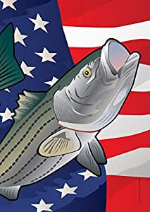 USA Rockfish Garden Flag by Joe Barsin, 12.5x18