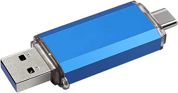 USB C Flash Drive 64GB USB3.0 Memory Stick 2 in1 Thumb Drive Photo Stick for USB C Android Phone(64GB, Blue)