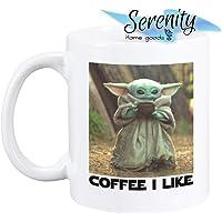 Mandalorian Star Wars Coffee I Like Baby Yoda Mug Cup Tea Cheap 15 ounce 11 white