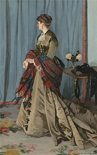 Oil Painting 'Portrait Of Mrs. Gaudibert, 1868 By Claude Monet', 8 x 13 inch / 20 x 32 cm , on High Definition HD canvas prints is for Gifts And Bath Room, Foyer And Study Room Decoration