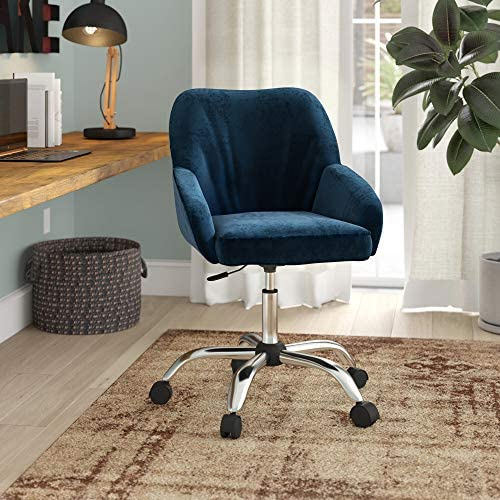 BELLEZE Office Chair Adjustable Swivel Mid-Back Desk Chair Task Velvet Seat Backrest Support