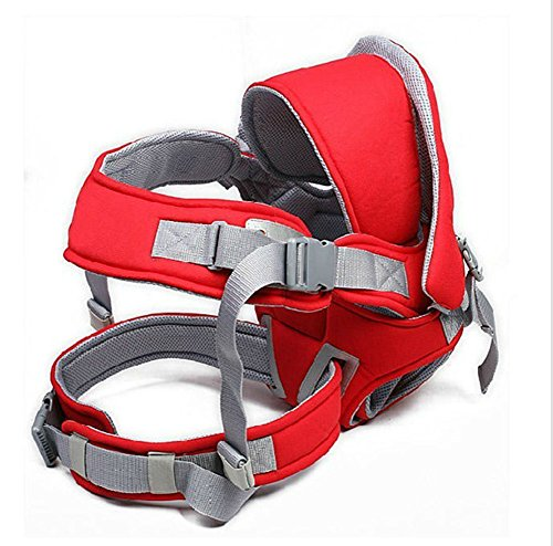 Baby Carrier, Mookraer UltraSoft Infant Carrier Baby Sling Mesh Cooling Vent, Hood & Pockets (Red)